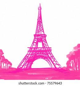 Paris Cartoon Art Images Stock Photos Vectors Shutterstock