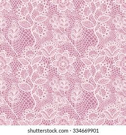 Pink Floral Lace Seamless Pattern. Elegant vintage Textile Background.