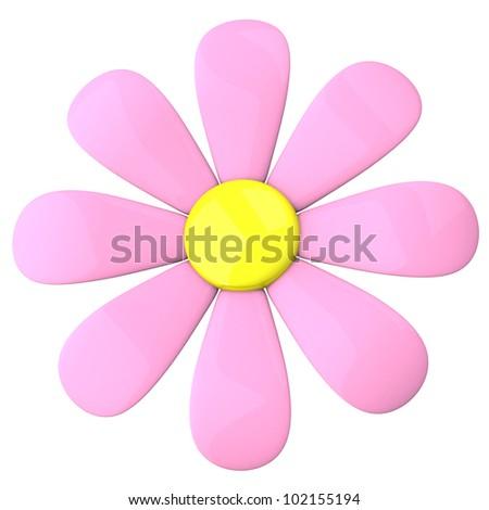Pink flower icon 3 d stock illustration 102155194 shutterstock pink flower icon 3d mightylinksfo