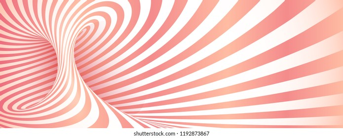 Pink geometric yaourt twisted stripes abstract background