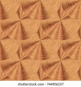 Pink gold. Circular brushed metal texture. Seamless background. Brushed metal with circle pattern.