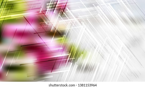 Pink Green and White Asymmetric Irregular Lines Background Image