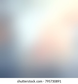 Pink, grey, blue glare blurred abstract texture. Tender glow empty background. Morning haze defocus illustration.