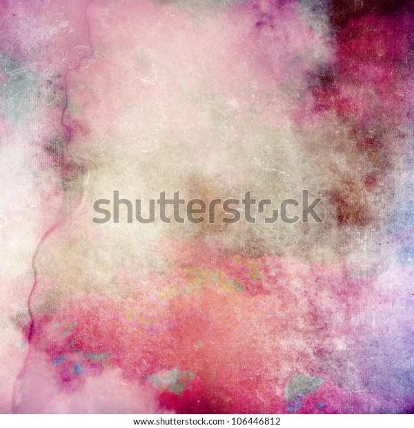 Pink grunge paper texture, art background