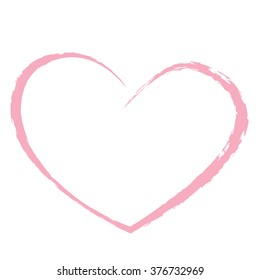 pink heart drawing love valentine