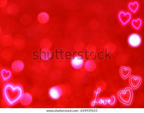 Pink love hearths festive bokeh background