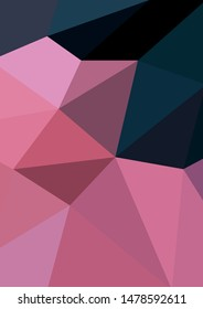 pink and navy polygon geometrical abstract background