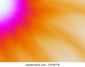 Pink and orange abstract sun