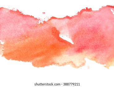 pink and orange watercolor background
