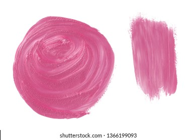 Pink paint, polish, construction and finishing varnish pearl, glitter brush shapes. Universal elements for your design, wrapping, flyers, cards, branding and digital scrapbooking.