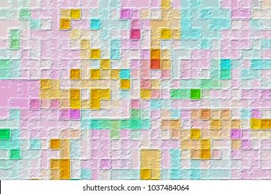 pink pastel art nice color splashes surface stock illustration