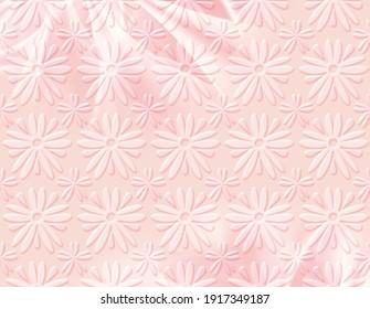 Pink pattern background.Seamless floral background.Spring background.