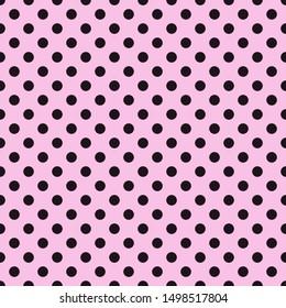 Pink Polka dots surface pattern.