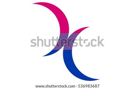 Bisexual moon symbols