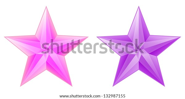 pink and purple stars with few light gradients