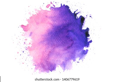 pink purple watercolor stain shades paint stroke background colorful splash