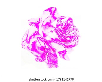 Pink rose illustration on a white background. Useful for blog posts, articles, posts, marketing purposes, greeting or invitation cards.