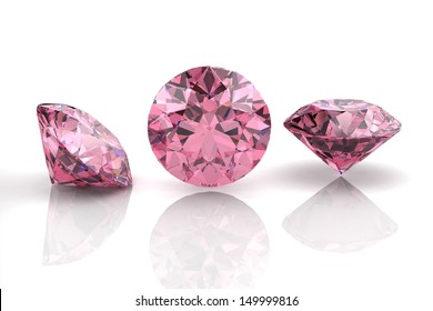 pink sapphire (high resolution 3D image)
