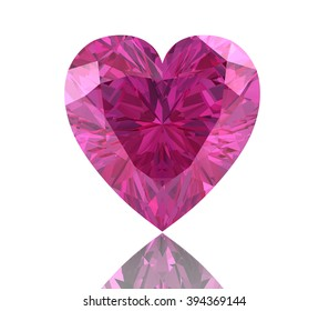 Pink sapphire.(high resolution 3D image)