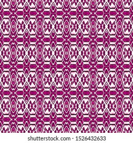 Pink seamless portuguese ethnic tiles azulejos. Ikat spanish tile pattern. Italian majolica. Mexican puebla talavera. Moroccan,Turkish floor tiles. Ethnic tile design. Tiled texture for flooring.