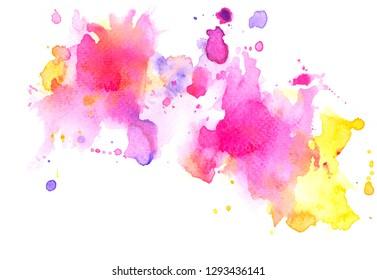 pink splash watercolor.