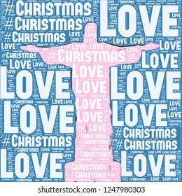 Pink Statue jesus illustration with love christmas words together illustration image