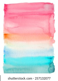 Pink and Teal Watercolor Rectangle Background