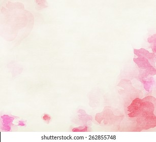 Pink tone watercolor flower background.