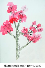Pink tree in inmagine
