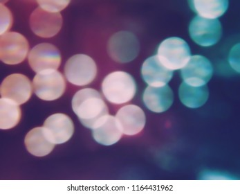 Pink Turquoise night bokeh blurry effect