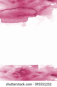 Pink watercolor abstract backdrop.
