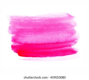 Pink watercolor background, brush strokes