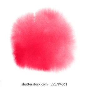 Pink watercolor background with brush strokes for Valentine card