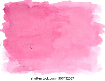 Pink watercolor background, luscious palette. Abstract canvas with paper texture.