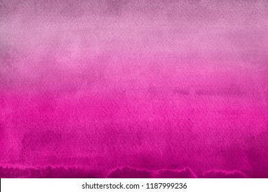 Pink watercolor ombre leaks and splashes texture on white watercolor paper background.