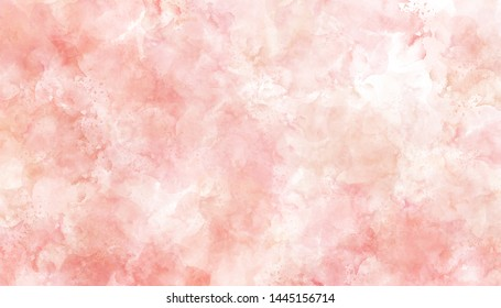 Pink watercolor painted paper texture background.
