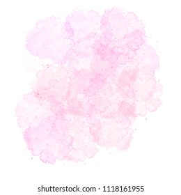 Pink watercolor stain