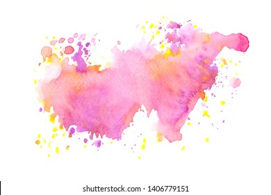 pink watercolor stain shades paint stroke background colorful splash