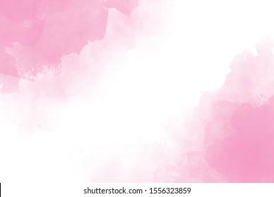 pink watercolor wet splash background digital painting