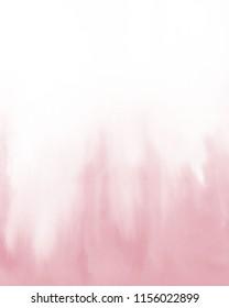 Pink watercolour. Watercolour illustration on white.