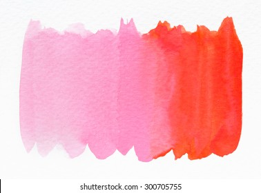 Pink wet Watercolor Wash. Watercolor Background. Ombre Watercolor.