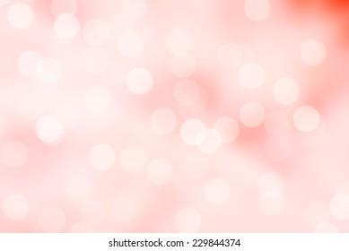 pink and white bokeh background or pink bokeh wallpaper