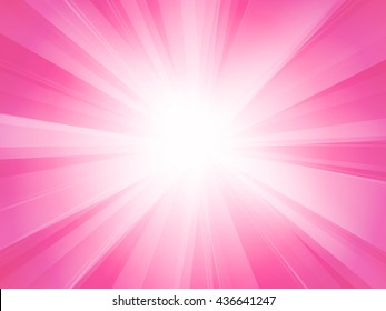 pink white rays background