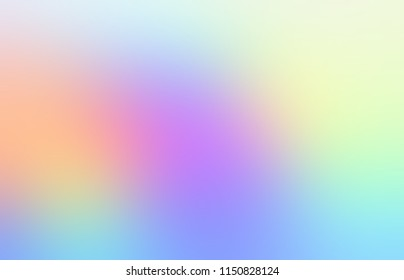 Pink, yellow, green, blue abstract lights. Rainbow defocused pattern. Spectrum ombre