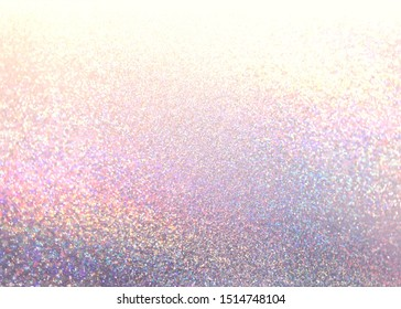 Pink yellow lilac glitter textured background. Glamour festive decorative illustration. Xmas style.