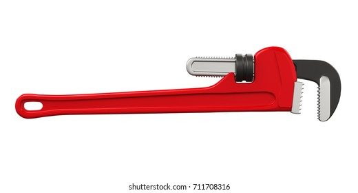 Pipe Wrench Isolated. 3D rendering