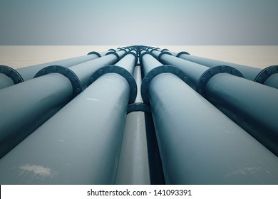 Pipeline transportation is most common way of transporting goods such as Oil, natural gas or water on long distances.
