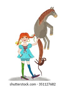 Pippi Longstocking Images Stock Photos Vectors Shutterstock