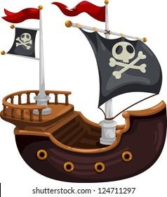 Pirate ship.jpg- (eps vector id 104280869)