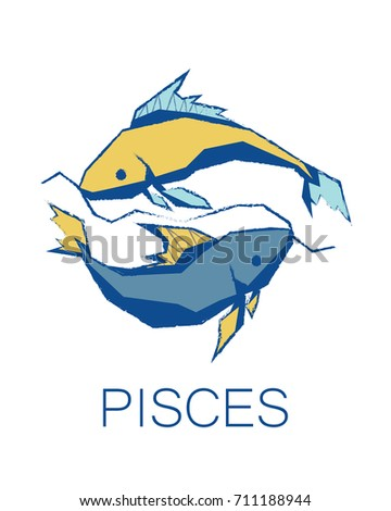 Royalty Free Stock Illustration Of Pisces Zodiac Sign Astrology